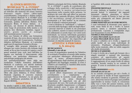 Depliant Cuneo 2014-15 retro