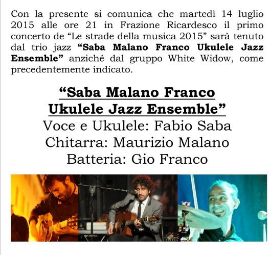 """Martedì 14 luglio primo concerto de """"Le strade della musica 2015"""""""